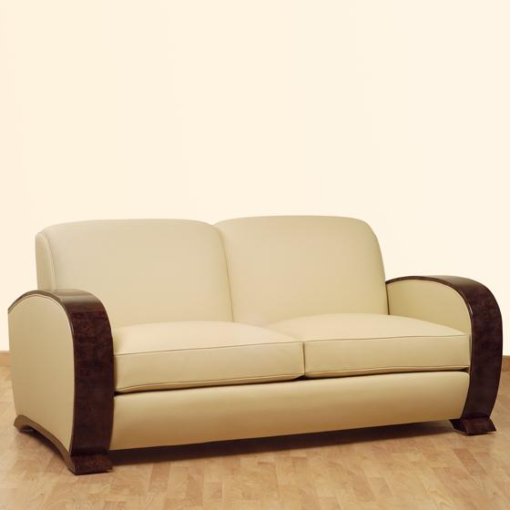 canape art deco cuir maison design. Black Bedroom Furniture Sets. Home Design Ideas