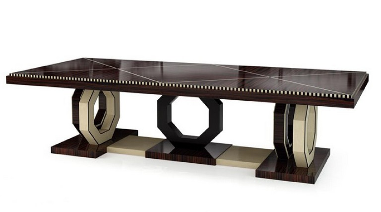 Luxury art deco dining table - Art Deco Furniture - Hifigeny Custom Furniture