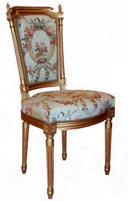 Chaise Louis XVI colonnettes paris