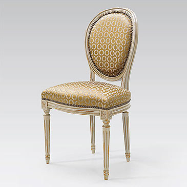 Chaise médaillon Louis XVI Paris