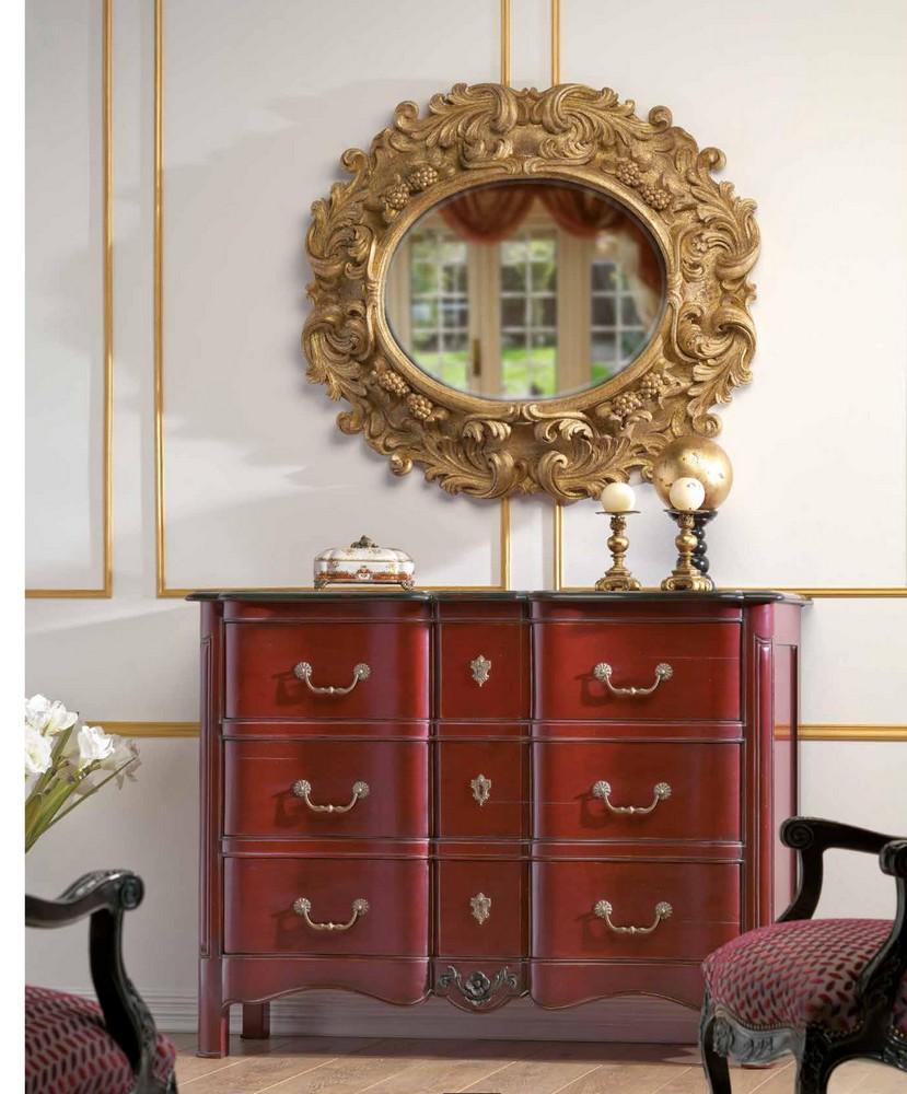 Baroque furniture hifigeny custom furniture - Commode baroque rouge ...