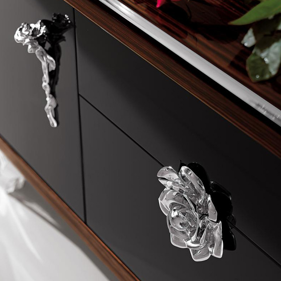 Ebony and black lacquered Dresser