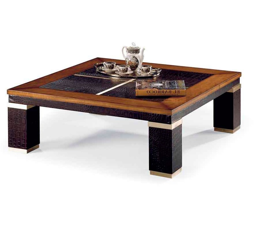 Table contemporaine cuir croco