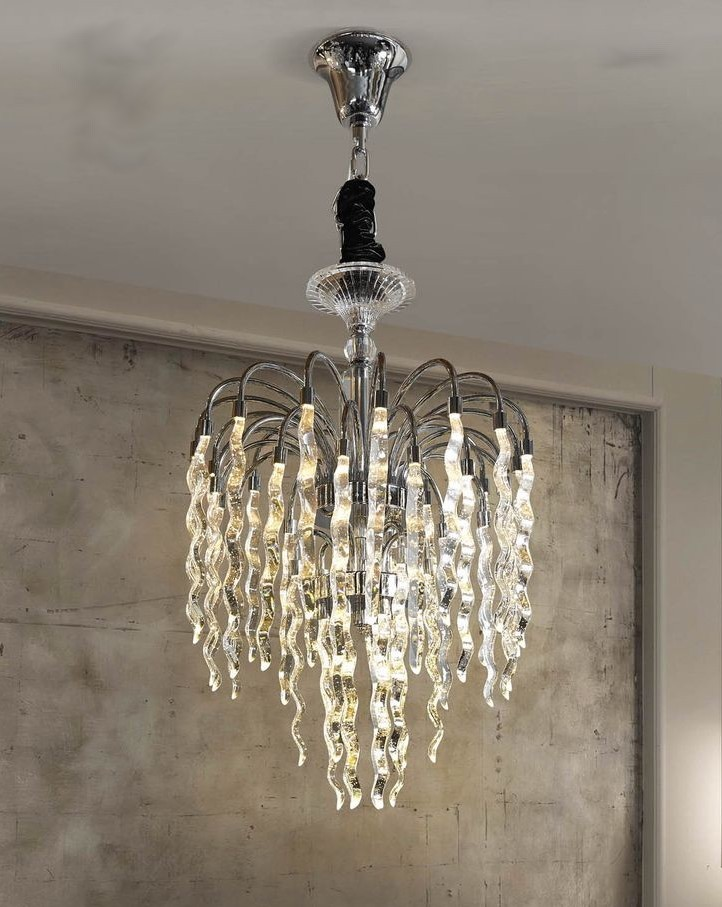 Lustre Transparent Cristal Paris