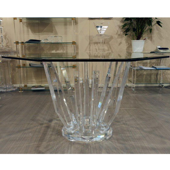 Transparents et miroirs meubles sur mesure hifigeny - Table a manger transparente ...