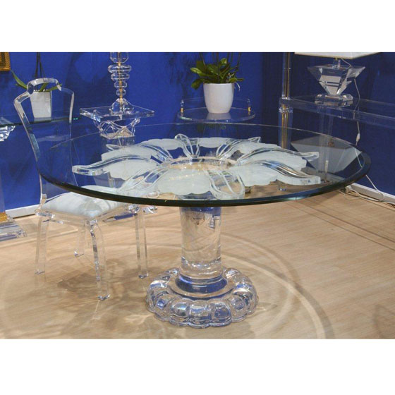 Transparents et miroirs meubles sur mesure hifigeny - Table a manger transparente ...