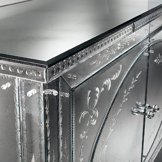 Mobilier miroir dijon design for Miroir dessus de buffet