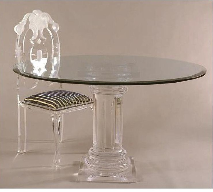 Modèle Table de Luxe transparente Paris