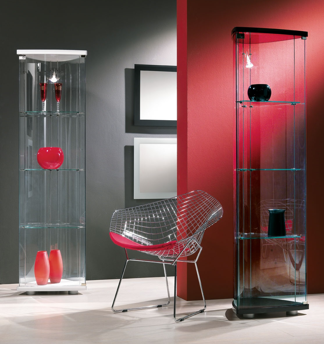 Transparents Et Mirrors Hifigeny Custom Furniture # Vitrine D Angle Moderne Design
