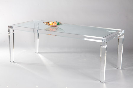 Transparent dining table