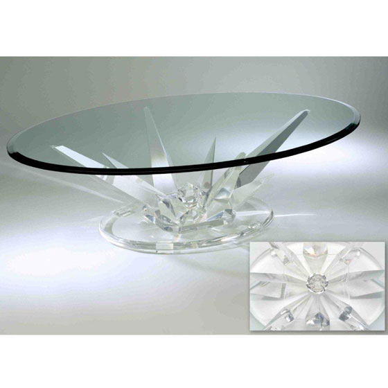 Table basse ovale en verre gifi for Table basse en verre but