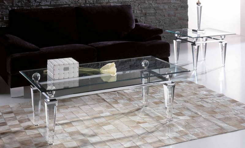 Table basse transparente Paris