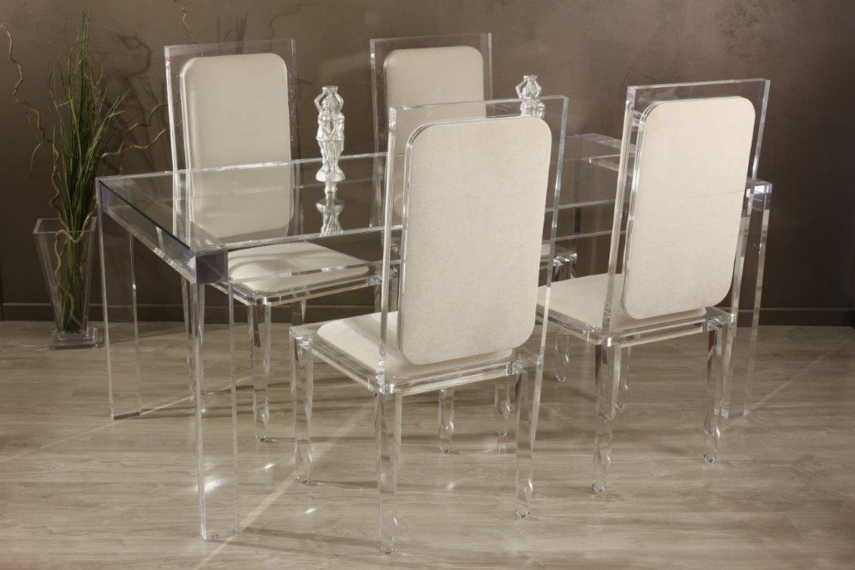Table de repas transparente